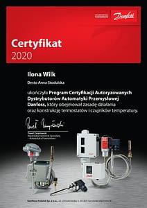 Certifikat IWilk 212x300 Dla Ciebie potwierdzamy nasze kompetencje